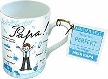 PPD Porzellan Henkelbecher Tasse Weltbester Papa