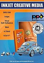 PPD PPD038-50 Aufkleber für Tintenstrahldrucker,