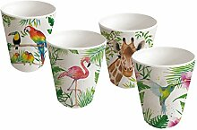 PPD Tropical Bamboo Becherglas, 4er Set, Becher