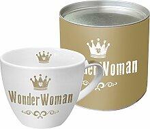 PPD WonderWoman Real Gold Porzellantasse,