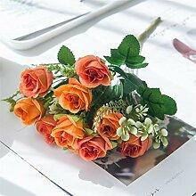 PPLAX Künstliche Blumen Seidenrosen Hochzeit