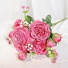PPLAX Rosa Seide Pfingstrose Künstliche Blume
