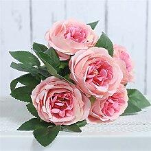 PPLAX Seide Künstliche Blumen Pfingstrose Weiße