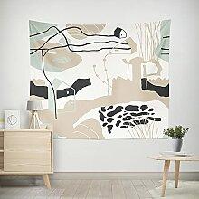 PPOU Abstrakte Pflanze Cartoon Serie Wandteppich