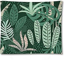 PPOU Blatt Wandteppich Wandbehang grüne Pflanze