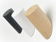 PPuujia Holz-Kleiderbügel, Wandmontage,