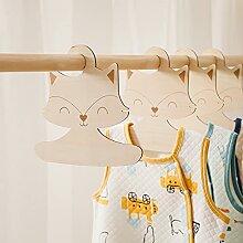 PPuujia Kleiderbügel aus Holz im nordischen Stil,