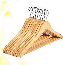 PPuujia Kleiderbügel aus Massivholz, rutschfest,