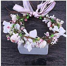 Ppzmd Headwear Blumen-Kranz-künstliche Girlande