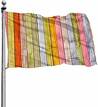 PQU Awesome Family Flag,Holz Garten Flagsstylish