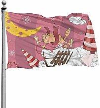 PQU Awesome Flag Banner,Katze Auf Garten