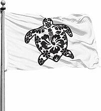PQU Awesome Flag Banner,Stammesschildkröte Mit