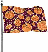 PQU Awesome Garden Flag,Thanksgiving Kürbisse