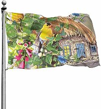 PQU Awesome Garden Flags,Gelbe