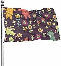 PQU Awesome Garden Flags,Herbst Wald Garten
