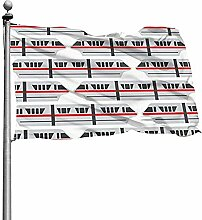 PQU Awesome Home Garden Flags,Rote