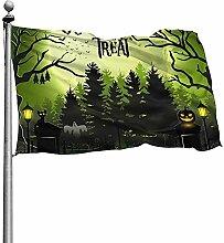 PQU Awesome Outdoor Garden Flag,Halloween Mit
