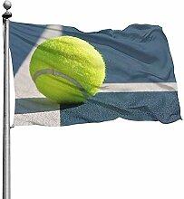 PQU Awesome Outdoor Garden Flag,Tennisball Auf