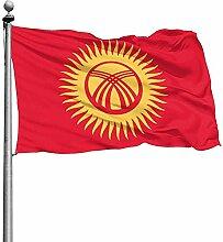 PQU Awesome Outdoor Yard Flag,Kirgisistan Garten