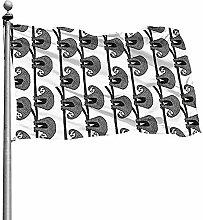 PQU Awesome Outdoor Yard Flag,Tierische Niedliche