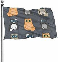 PQU Awesome Seasonal Garden Flag,Lustige