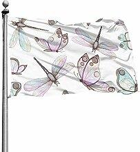 PQU Awesome Seasonal Garden Flag,Schöne Aquarell