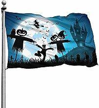 PQU Awesome Yard Flags,Festival Halloween