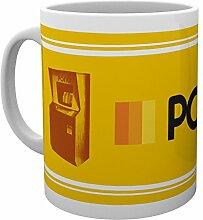 PQube Pong Tasse, Porzellan, Gelb, 8x 11x 9cm