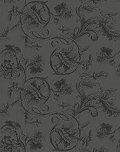Prachtvoll edle Barock Tapete mit edlem floralem