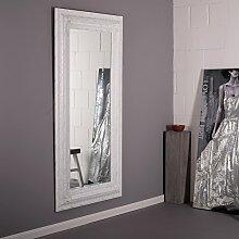 PRACHTVOLLER BAROCK RAHMEN SPIEGEL 96 x 185 cm antiker Facettenspiegel jugendstil von Xtradefactory weiß