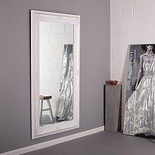 PRACHTVOLLER BAROCK WANDSPIEGEL 103 x 178 cm antiker Facettenspiegel jugendstil Spiegel weiss