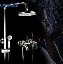 Prägnanten Stil Bad Dusche Wasserhahn Set Nickel