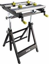 Präzise Engineered royobi ProGrade Folding Metall Workmate mit verstellbare Winkel und Höhe [1Stück]–W/3Jahre rescu3® Garantie