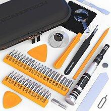 Präzisions-Schraubendreher-Set,35Aufsätze, 9Werkzeuge, für Reparatur von iPhone/Samsung/Computer