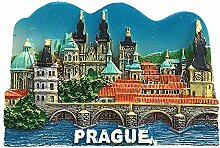 Prag Tschechische Republik 3D-Kühlschrankmagnet,