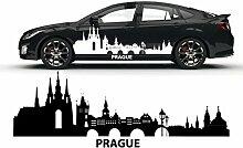 Prague Prag Skyline Aufkleber Dekoration Auto Sticker Citysilhouette Stadt Motiv |SKI015