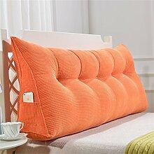 Praktische Büro Bett Sofa Taille Kissen Abnehmbare Dreieckige Kissen / Kissen Doppelbett Weiche Tasche Bettkissen Bett Rückenlehne Dddlt- pillow and cushions ( Farbe : Orange , größe : 150*50*20cm )