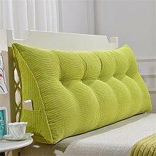 Praktische Büro Bett Sofa Taille Kissen Abnehmbare Dreieckige Kissen / Kissen Doppelbett Weiche Tasche Bettkissen Bett Rückenlehne Dddlt- pillow and cushions ( Farbe : Grün , größe : 70*50*20cm )