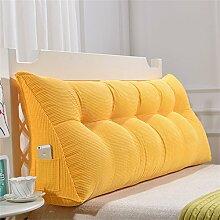 Praktische Büro Bett Sofa Taille Kissen Abnehmbare Dreieckige Kissen / Kissen Doppelbett Weiche Tasche Bettkissen Bett Rückenlehne Dddlt- pillow and cushions ( Farbe : Gelb , größe : 70*50*20cm )