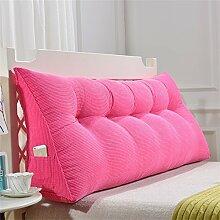 Praktische Büro Bett Sofa Taille Kissen Abnehmbare Dreieckige Kissen / Kissen Doppelbett Weiche Tasche Bettkissen Bett Rückenlehne Dddlt- pillow and cushions ( Farbe : Pink , größe : 150*50*20cm )