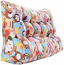 Praktische Büro Bett Sofa Taille Kissen Doppelseitiges Dreieck Kissen / Taillen-Kissen-Sofa-Rückseiten-weiches Beutel-Bett Groß schützen Sie das Taillen-Kissen Dddlt- pillow and cushions ( Farbe : #4 , größe : 60*90*30cm )