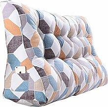 Praktische Büro Bett Sofa Taille Kissen Doppeltes Bett Dreieck Kissen / Taille Kissen Sofa zurück Weiche Tasche Bett Groß Schützen Sie die Taille Kissen Lesen Sie die Kissen Gitter Muster Dddlt- pillow and cushions ( größe : 60*90*30cm )