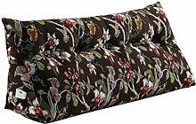 Praktische Büro Bett Sofa Taille Kissen Dreieck Nacht Große Kissen Abnehmbare und Waschbar Einzelne / Doppel Schwarz Kissen Bett Rückenlehne Sofa Weiche Tasche Lesen Sie die Kissen Dddlt- pillow and cushions ( größe : 60*50*20cm )