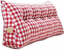 Praktische Büro Bett Sofa Taille Kissen Kopfende Verdickung Kissen Dreieck Kissen und lange Rückenlehne abnehmbar und waschbar Taille Kissen / Lesekissen Dddlt- pillow and cushions ( Farbe : Rot , größe : 120*50*20cm )
