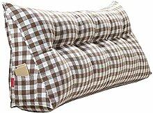 Praktische Büro Bett Sofa Taille Kissen Kopfende Verdickung Kissen Dreieck Kissen und lange Rückenlehne abnehmbar und waschbar Taille Kissen / Lesekissen Dddlt- pillow and cushions ( Farbe : Braun , größe : 90*50*20cm )