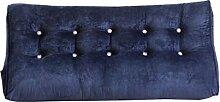 Praktische Büro Bett Sofa Taille Kissen Nacht Kissen Dreieck Doppel Große Sofa Rückenlehne Verdickt Soft Pack Bett Kissen Lendenkissen Schützen Die Taille Kissen Dddlt- pillow and cushions ( Farbe : Blau , größe : 60*120*30cm )
