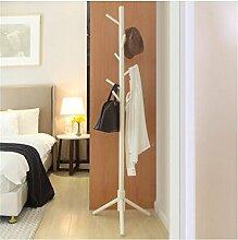 Praktische Indoor Möbel Mantel Rack Mantel Racks Kleiderbügel Schlafzimmer Büro Kleiderbügel Landung Trocknen Racks Einfache Coat Rack -ZZBBZZ-YJ ( Farbe : Weiß )