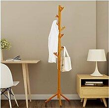 Praktische Indoor Möbel Mantel Rack Massivholz Mantel Racks Baum - geformt kreative Schlafzimmer Kleiderbügel importiert Gummi Holz Kleidung Racks -ZZBBZZ-YJ