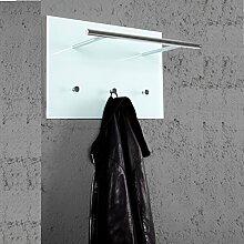 PRAKTISCHE WANDGARDEOBE AZZARETTI Garderobe mit Haken Handtuchhalter aus Glas und Chrom