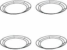 prasku 4 Stück/Set Metalldraht Kranz Rahmen Form
